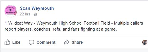 The Weymouth vs. Brockton Youth Football game ending in a brawl is the least surprising news ever