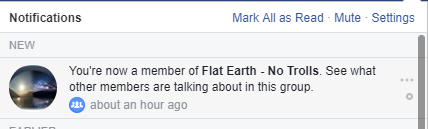 flat earth notification