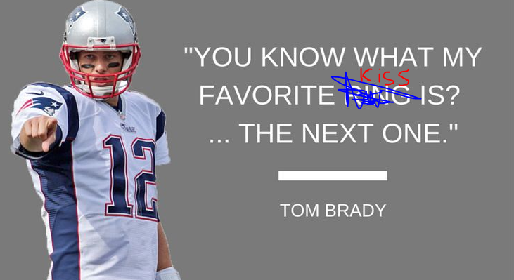 Is it weird that Tom Brady kisses his son onlips?