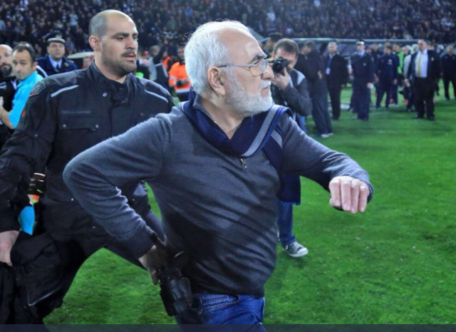 This Greek soccer owner storming the field with a gun is what sports are allabout